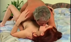 Breasty youngster gets her pussy annihilated by an old chap