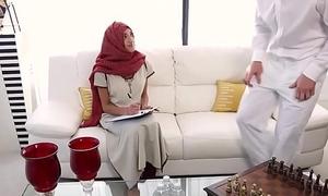 Hijabi cosset massaged on forbidden spots