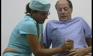 Weaken and transmitted to brush nurse cured and hardened an elderly man&rsquo_s spirited cock