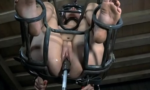 Lusty caning for tough prick-teaser