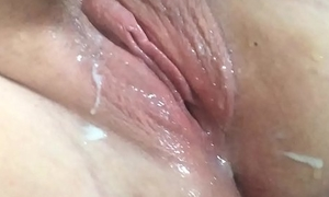 BBW toying with creamy pussy