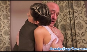 Petite russian teen drilled by a senior