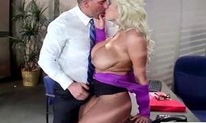Office Doll (bridgette b) With Big Bosom Banged Hard Style video-08