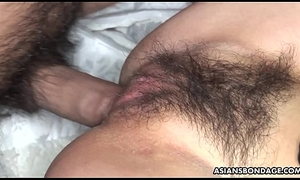 Soft Feel one's way toddler Sayo Hayakawa bound with an increment be advisable for double fucked permanent