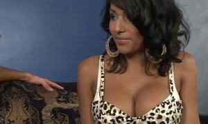 Big bosom tranny Jane Marie anal railed