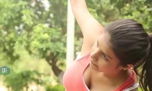 Yoga teacher with lickable armpits