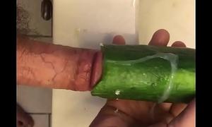 Big Dick Fucking a Hollow Cucumber.MOV