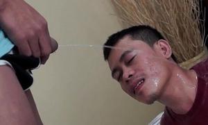 Piss fetish oriental twinks sucking load of shit