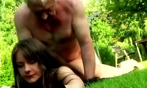 Having sex in older guys make this young brunette'_s life complete