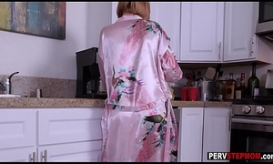 Honcho MILF stepmom played with a chubby dick forwards morning